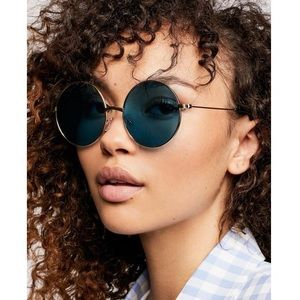 NWT {Free People} New Moon Round Sunglasses
